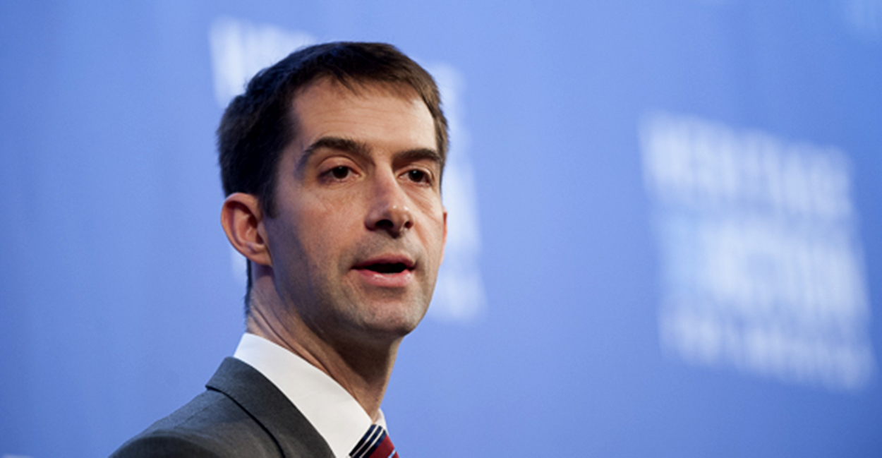 Sen. Tom Cotton schools critics over Trump's threat to deploy military to stop riots: 'Read a book'