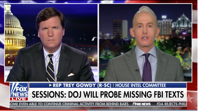 Gowdy: 'FIX was IN' to clear HILLARY no matter what she did, as newly released texts PROVE