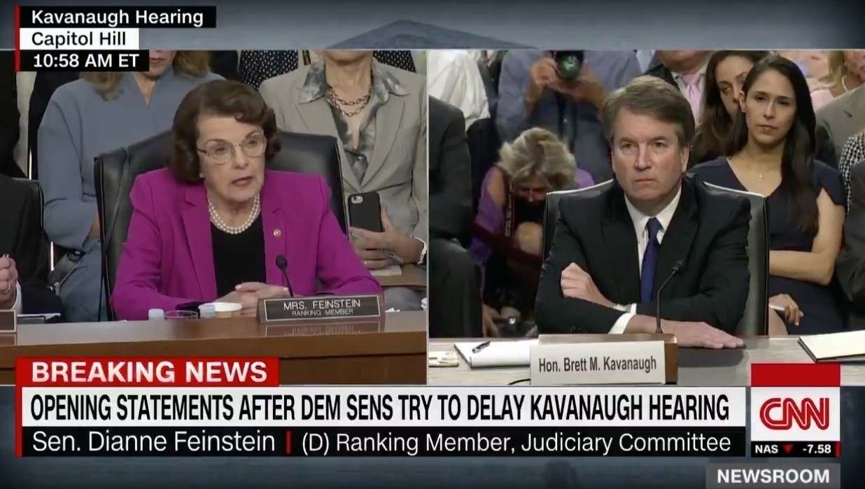 Feinstein the hypocrite was set to railroad Brett Kavanaugh but now doesn't believe Biden's accuser Tara Reade