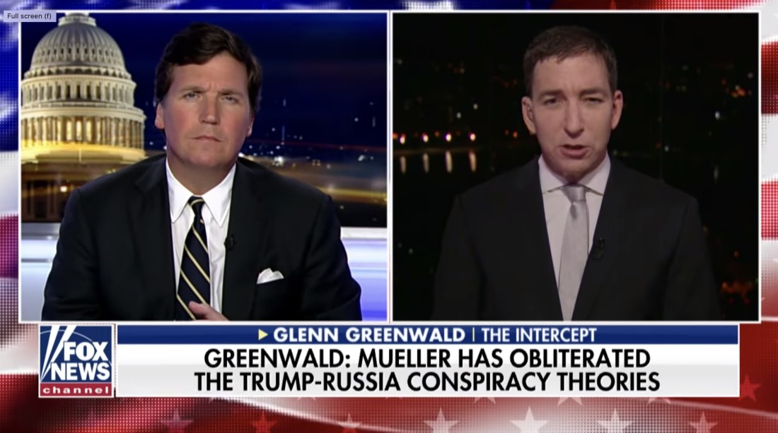 Glenn Greenwald blasts U.S. media over perpetuation of the 'Spygate' hoax, calling it 'scandal of historic magnitude'