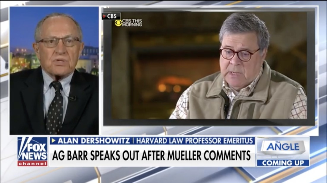 Dershowitz: Corrupt Mueller probe should be 'the death knell' for special counsels (Video)