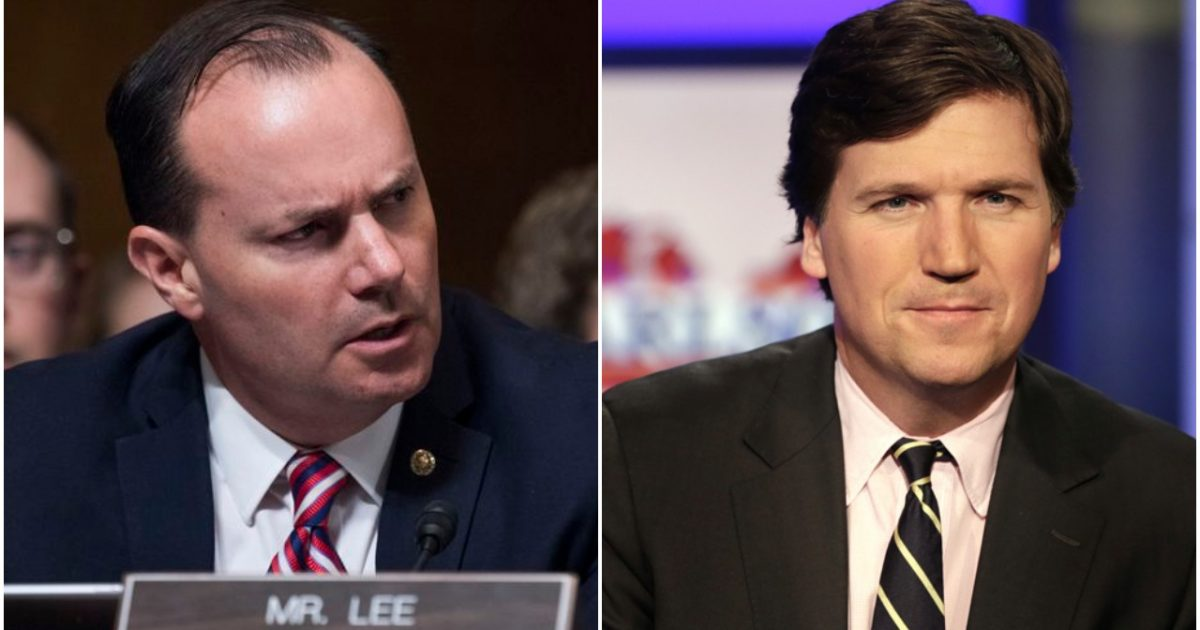Tucker Carlson blasts 'Google shill' Sen. Mike Lee after noting he once opposed big tech censorship of conservatives