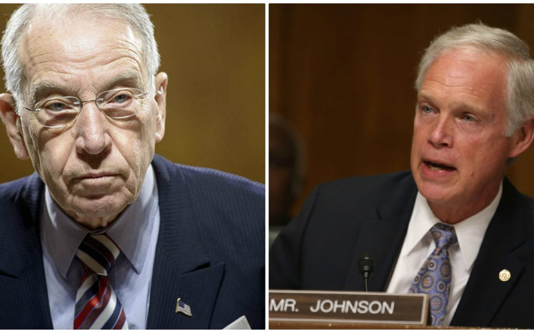 Sens. Johnson, Grassley demand FBI explain why it failed to corroborate bogus Steele dossier