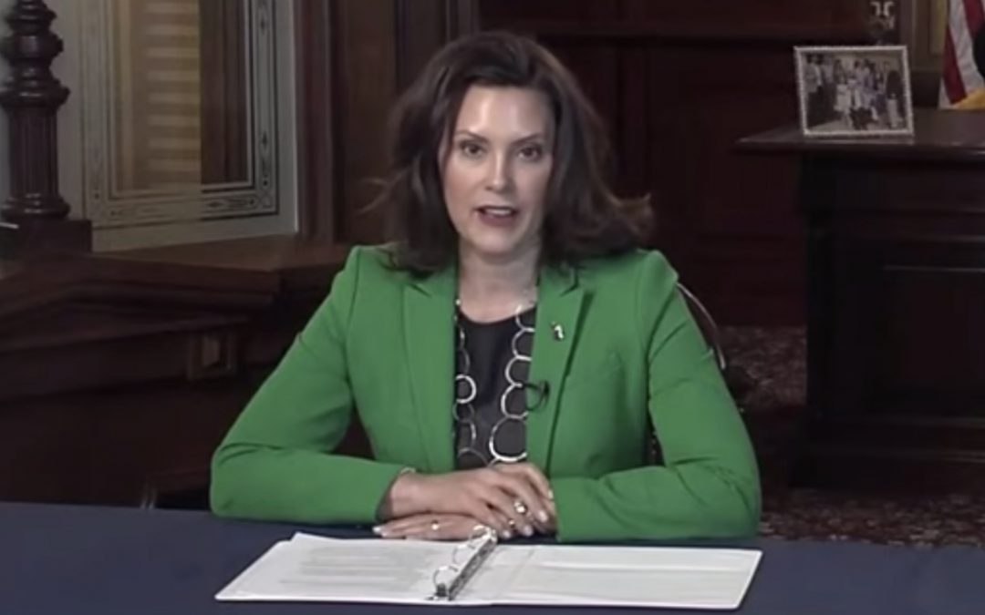 Queen Whitmer in Michigan imposes another COVID lockdown just in time for the holidays!