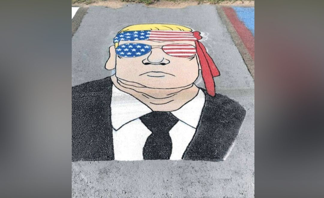 Federal judge slams school for painting over student's pro-Trump parking spot, says that's a free speech violation